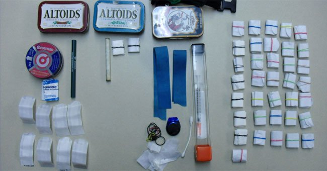 The following photo of items seized by West Hartford Police Department.