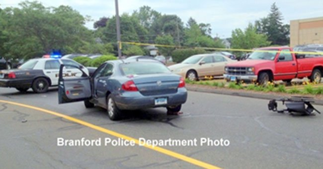 The following photo of the crash was provided by the Branford Police Department.