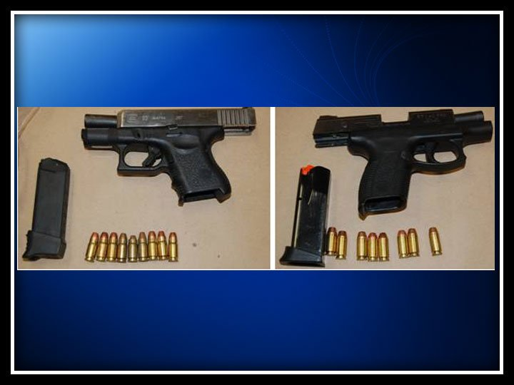 The following photo of guns seized was provided by the Bridgeport Police Department.