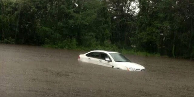Flooding reported near Interstate 84 exit 82 in Norwich.