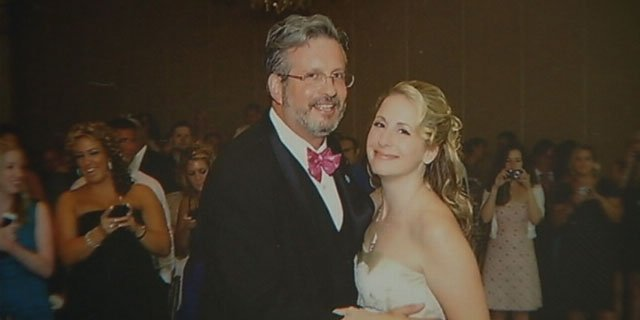 Dr. William Petit, Jr. and his wife, Christine, dance during their wedding about a year ago.
