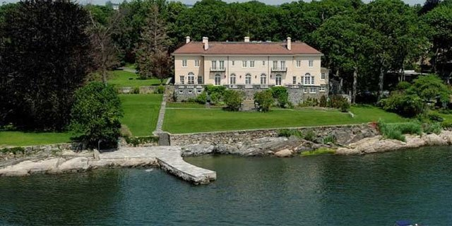 The following photo of Bob Weinstein's mansion was provided by the Coldwell Banker website.