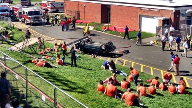 Channel 3 Photographer Kevin Galliford sent in this photo of the drill