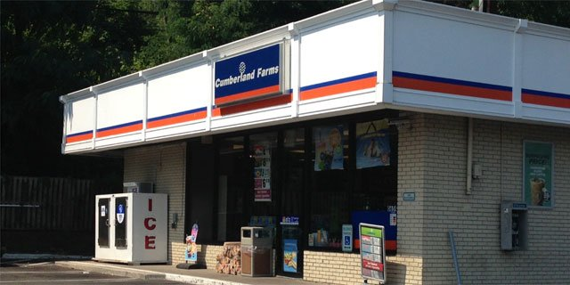The attempted robbery took place at Cumberland Farms on River Road in Shelton.