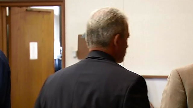 Bruce Browne kept his back to the camera during his court appearance on Thursday.