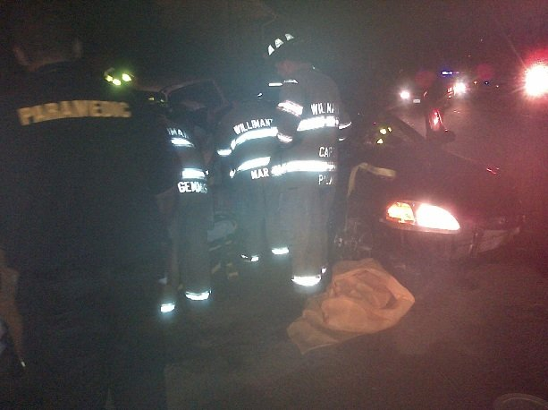 A serious crash was reported in Willimantic early Monday morning.