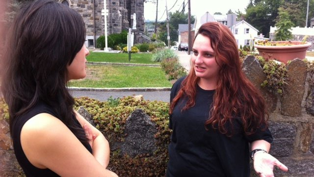 Tara Church, a 23-year-old Greenwich High School graduate, talked with WFSB reporter Karen Lee about a Facebook page honoring Greenwich teen being hacked.