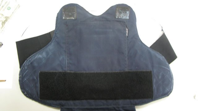 The following photo of bulletproof vest, which was seized during the arrest, was provided by the Vernon Police Department.