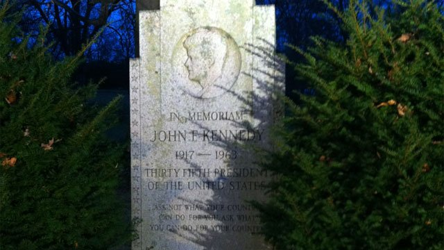 John F. Kennedy monument in New Britain's Walnut Hill Park