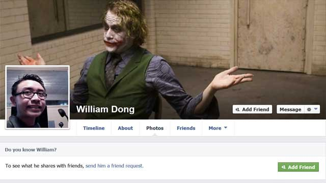William Dong's Facebook Page