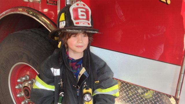 Vladimir Romano visited the Bridgeport Fire Headquarters Tuesday morning.