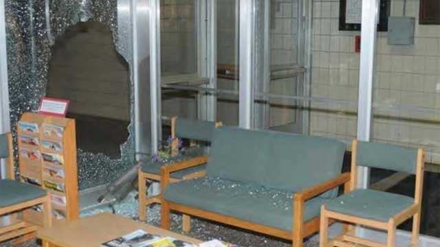 The following photo is the inside of Sandy Hook Elementary School after the shooting.