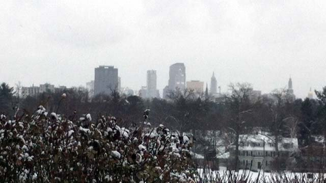 The following photo is of the Hartford Thursday afternoon.