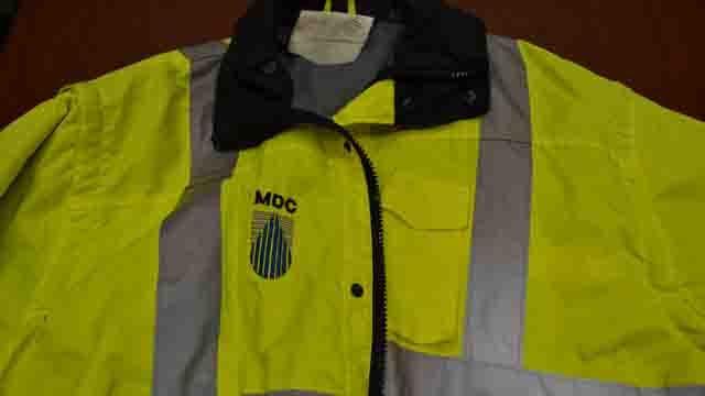 MDC Jacket with logo.