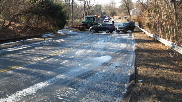 The following photo of Flax Hill Road was provided by the Norwalk Police Department.