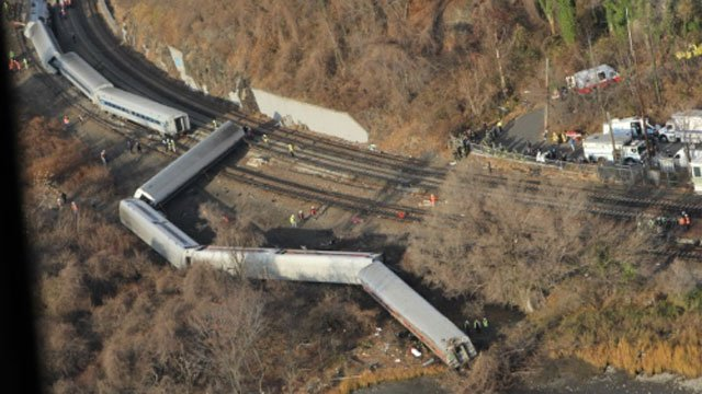 Aerial view of accident scene provided by the National Transportation Safety Board
