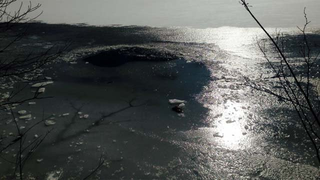 The ice Sperry fell through in West Haven.