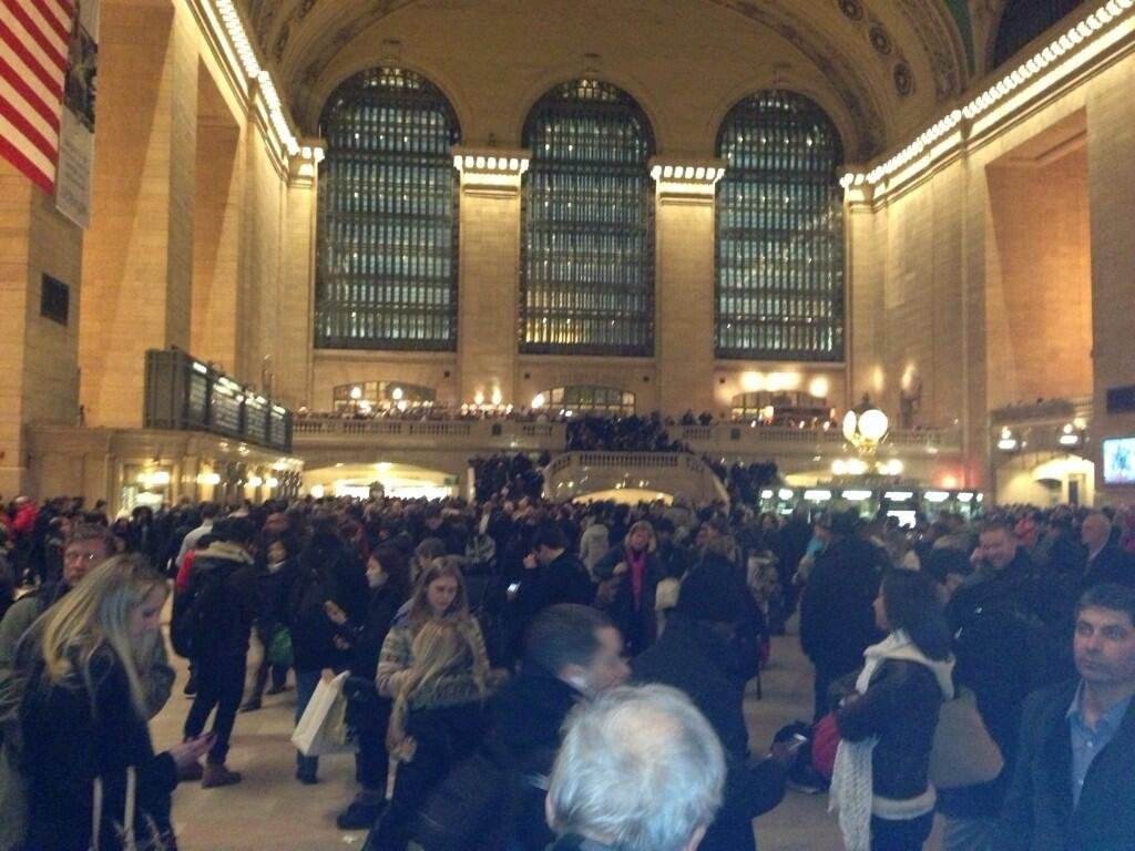 Commuters fill Grand Central Station