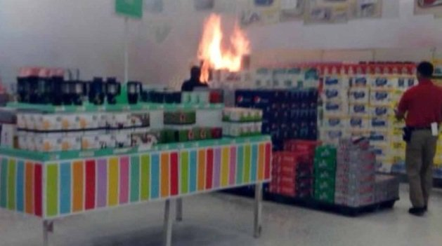 Picture of fire inside the Target store