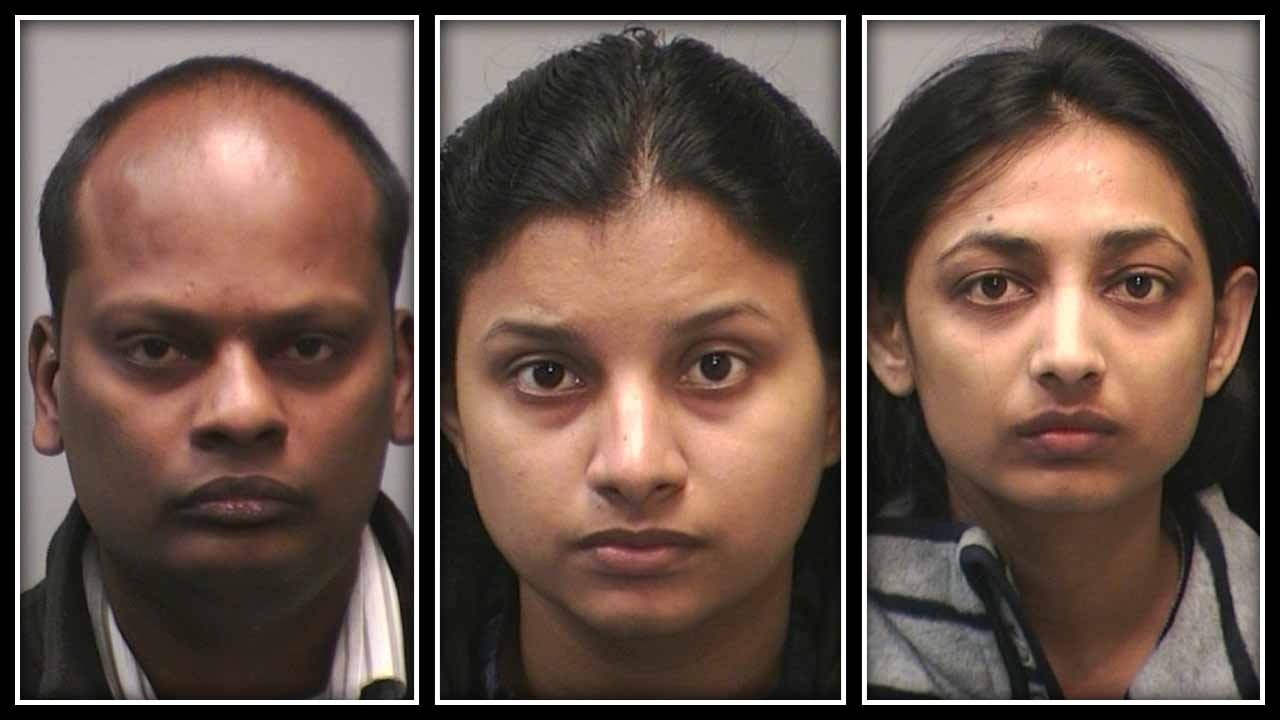 Thenmozhi Rajendran, Sivakumar Mani and  Babysitter Kinjal Patel all face charges.