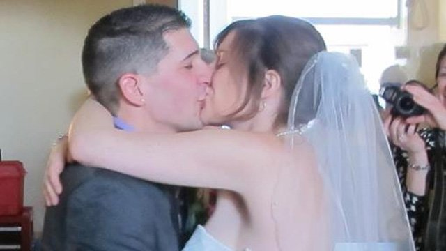 Aly Femia and her husband, Anthony, wed in 24 hours thanks to Yale-New Haven Hospital. (Facebook photo)