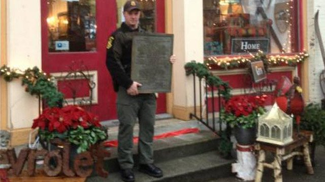 Pomfret Revolutionary War plaque recovered in Nov. after being discovered on eBay.