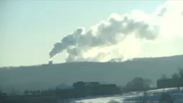 Smoke from the Kleen Energy Plant fire was seen from the Eyewitness News I-Cam.