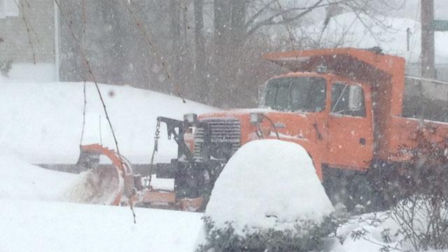 Plow trucks worked to keep roads clear in Waterbury