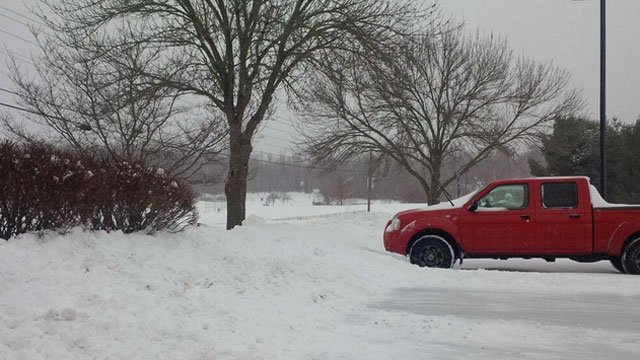 People parked their vehicles in South Windsor.