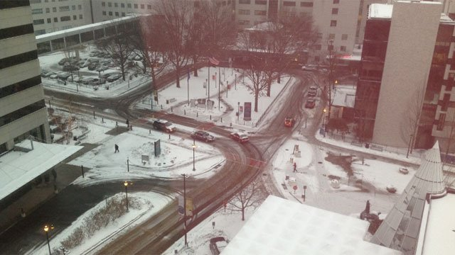 A WFSB viewer provided us with a shot of downtown Hartford.