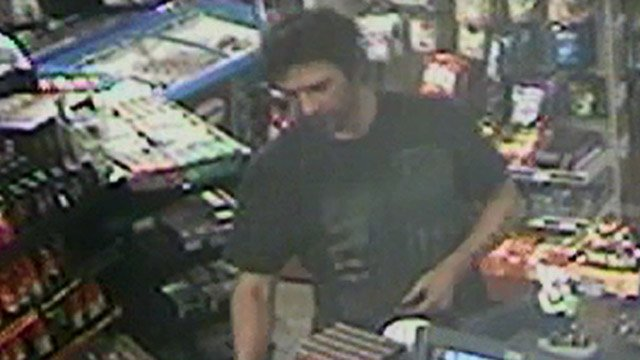 Surveillance photo of the suspect inside the Winzz Gas and Goods in Waterbury. (Southington police photo)