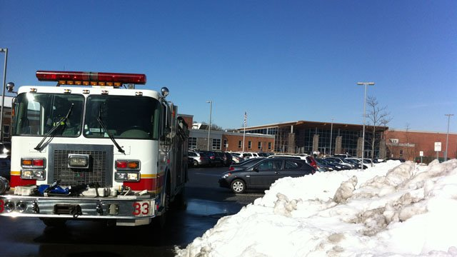 The Catherine Kolnaski School in Groton was evacuated Thursday morning because of a gas odor.