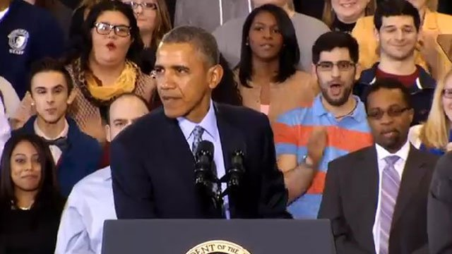 President Obama speaks at CCSU