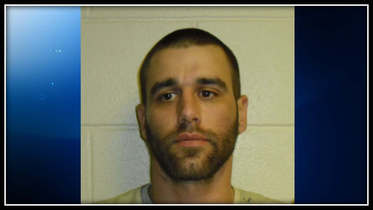 A sock linked Brett Downs to robberies in Wolcott, police said. (Wolcott police photo)