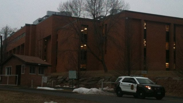 Security was increased Monday at Shelton High School. (WFSB photo)