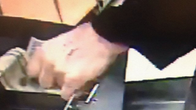Police said the suspect had a scabbed bite mark or scratch on his left hand. (Bridgeport police photo)