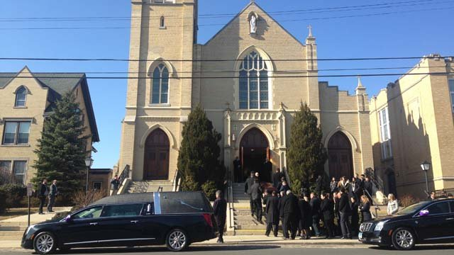 The funeral procession was set to lay Kristjan to rest Thursday. (WFSB photo)