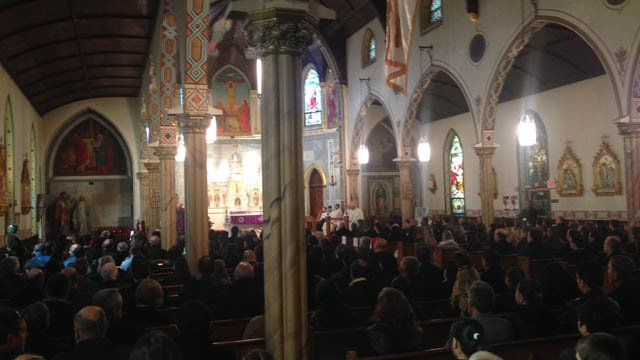 The service began at 10 a.m., according to the Ndoj family. (WFSB photo)