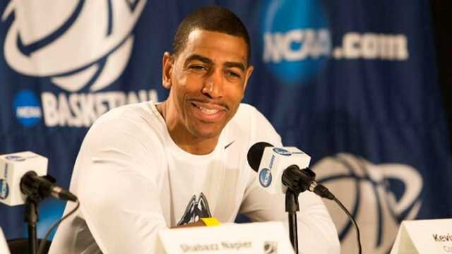UConn coach Kevin Ollie fields questions from the media today at Madison Square Garden (Photo Courtesy: Stephen Slade)