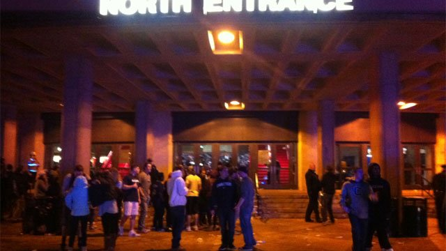 Some UConn students were unable to get inside Gampel Pavilion on Monday night.