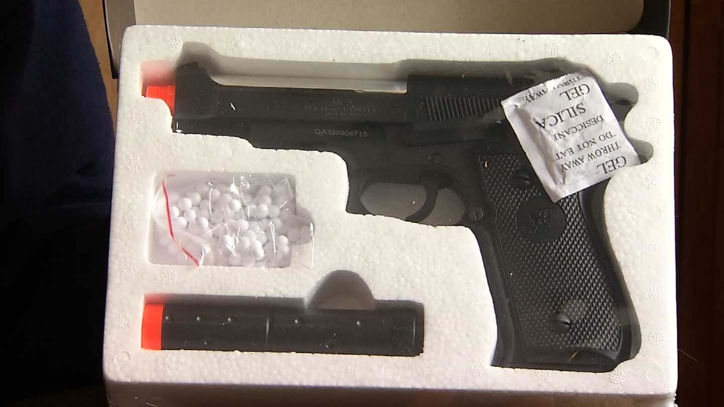A woman from Lebanon said her 12-year-old was able to purchase this pellet gun through Amazon.com. (WFSB photo)