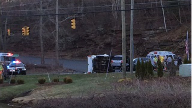 A crash closed Route 17 in Middletown Wednesday. (WFSB photo)