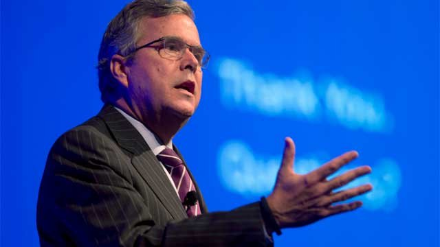 File photo shows former Florida Gov. Jeb Bush speaking in Hollywood, Fla. (AP Photo)