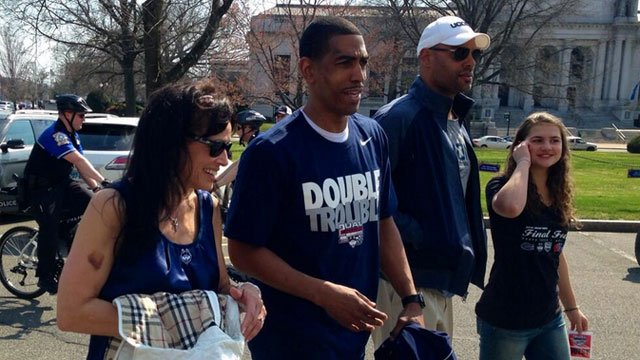 UConn men's head coach Kevin Ollie has arrived at the state capitol.