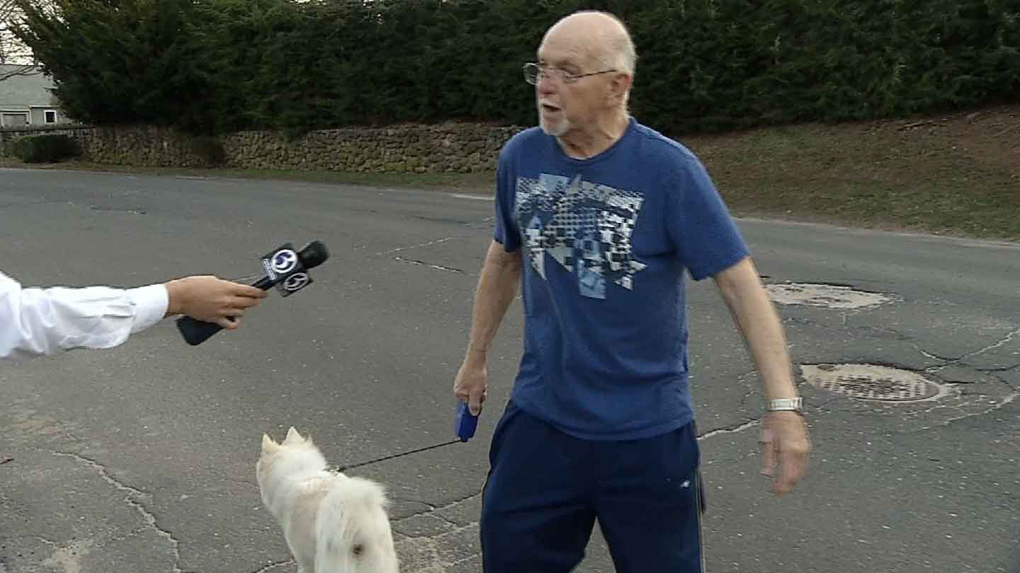 Leo Forget said Sunday marked the second time he was attacked by the same pit bull. (WFSB photo)