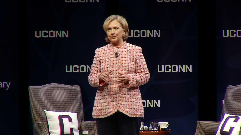 Hillary Clinton to spoke at UConn Wednesday night. (WFSB photo)