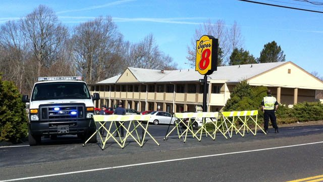 A stabbing was reported at the Super 8 in Old Saybrook, police said. (WFSB photo)