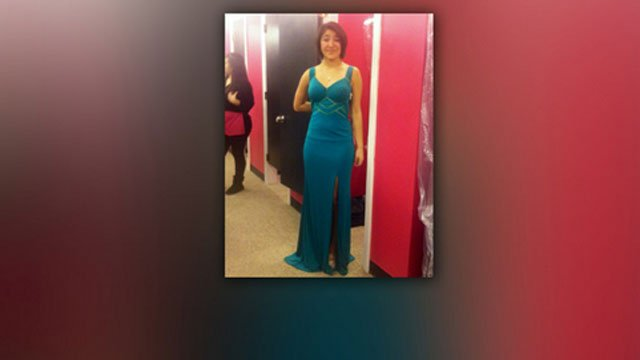 A picture of Sanchez in her prom dress. (Facebook photo)