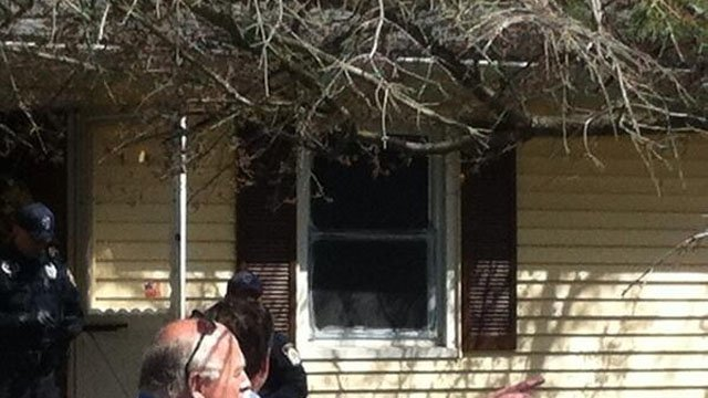 This is the window police said was blacked out by family members so the victim couldn't see or be seen. (WFSB photo)