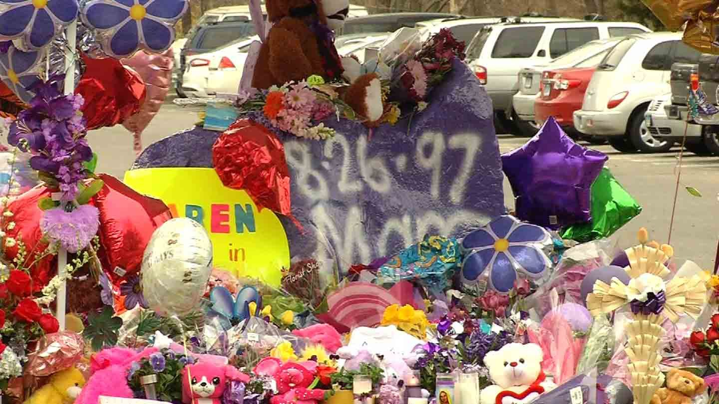 Purple was the theme Tuesday when students went back to class in Milford. (WFSB photo)